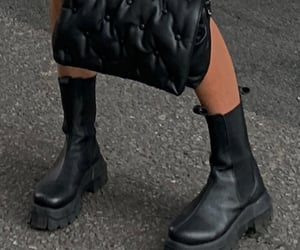 ankle boots, chunky shoes, and footwear image