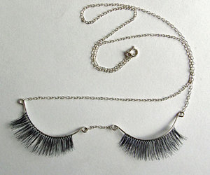 necklace, eyelashes, and jewelry image