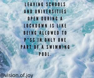 quote, swimming pool, and coronavirus image