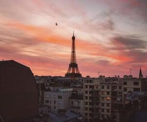sky, paris, and pink image