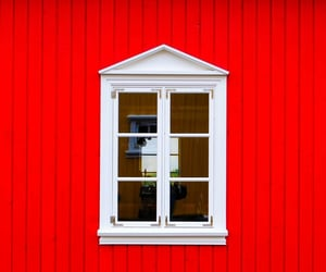 facade, minimalism, and red image