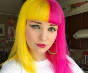 hairstyle, colorful hair, and dyed hair image