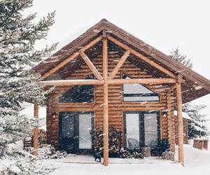 cabin, cottage, and ski image