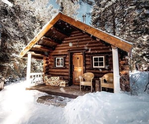 cabin, awesome, and winter image