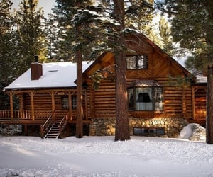 cabin, house, and lodge image