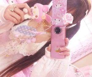 kawaii, my melody, and pink image