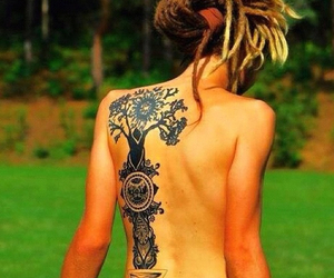 dreads, tattoo, and hippie image