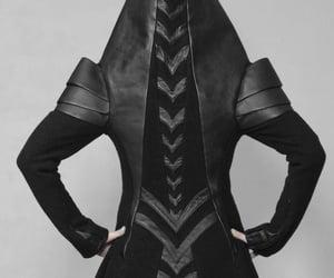black leather, aesthetics aesthetic, and cyberpunk image