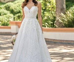 fashion, princess wedding dress, and wedding image
