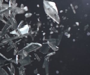 glass, broken, and shatter image