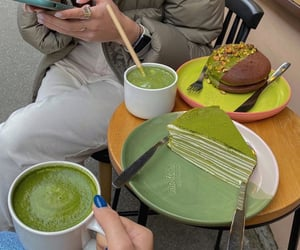 dessert, food, and green image