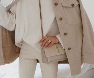 bag, beige, and clothes image