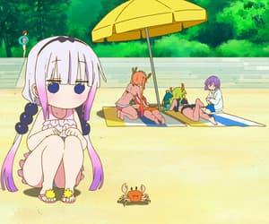 anime, anime cute, and anime beach image
