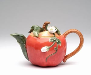 apple, tea, and tea pot image