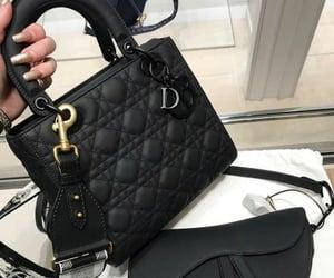 bag, black, and dior image