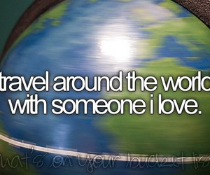 travel, love, and world image