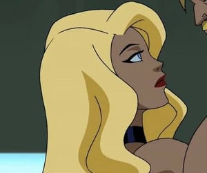 animation, Black Canary, and justice league image