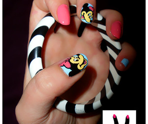 bracelet, minnie mouse, and nails image