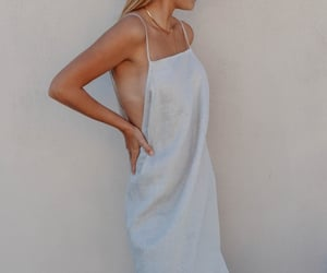 dress, linen, and maurie and eve image