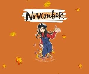 background, orange, and نوفمبر image