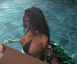 blurry, pool, and rihanna image
