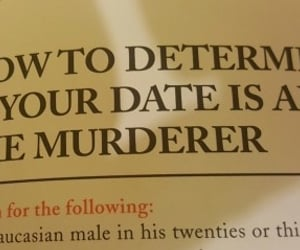 axe murderer, your date, and how to determine image