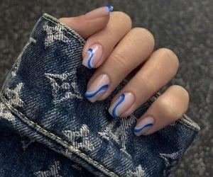 blue, nail art, and nails image