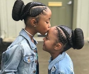 adorable, braids, and girls image