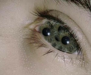 eyes, black, and green image