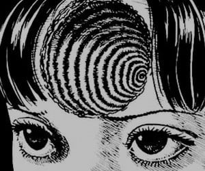 art, black and white, and junji ito image