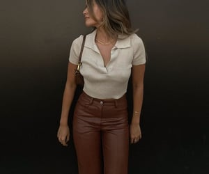 leather pants, everyday look, and fashionista fashionable image
