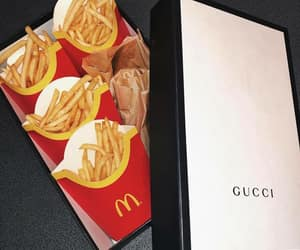 gucci, food, and mc donalds image