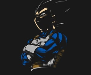dragon ball, dragon ball z, and vegeta image
