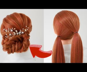 hair, hairstyle, and frenchbraid image