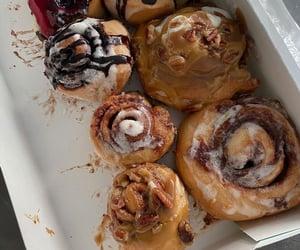 food and cinnamon rolls image