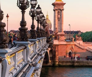france, paris, and pont alexandre III image