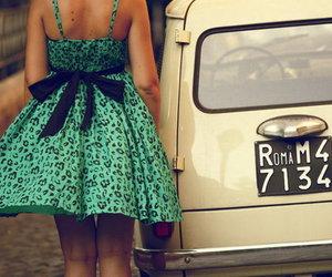 dress, girl, and car image