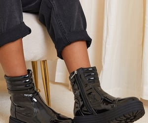 black, boots, and clothing image
