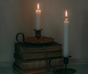 candles, fire, and vintage image
