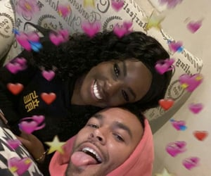 cute couple, black couples, and relationship goals image