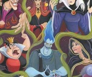 background, queen of hearts, and villains image