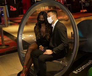 cute couples, black couple, and black love image