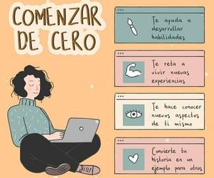 comienzo, vida, and frases español image