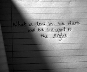 quote, dark, and life image