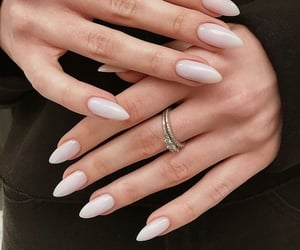 nails, manicure, and rings image