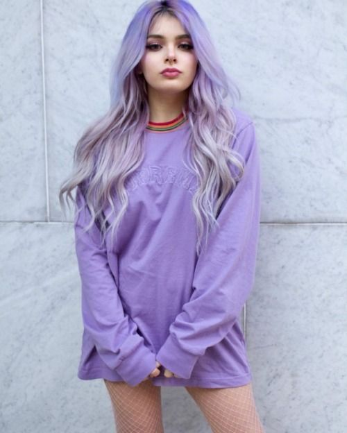 colorful hair, dyed hair, and colored hair image