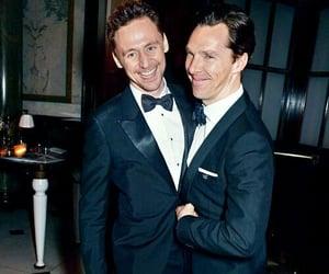 benedict cumberbatch, tom hiddleston, and sherlock image