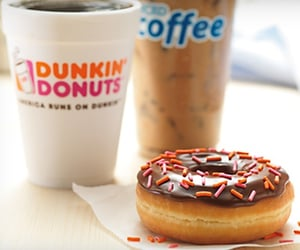 dunkin donuts and free gift cards image