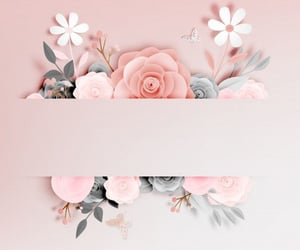 flowers, Logo, and pink image