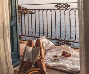 balcony, book, and fashion image